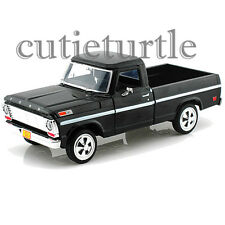 Motormax 1969 Ford F-100 Pickup Truck 1:24 Diecast Model 79315 Black