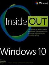 Windows 10 Inside Out, Bott, Ed, Siechert, Carl, Stinson, Craig, Acceptable Book