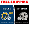 Los Angeles Rams vs Oakland Raiders House Divided Flag Banner 3x5 ft 2019 NEW