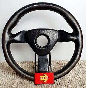 MOMO Monte Carlo 320 mm leather steering wheel Authentic Porsche Honda VW BMW