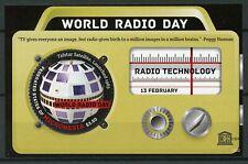 Micronesia 2013 MNH World Radio Day 1v S/S UNESCO Telstar Satellites Stamps