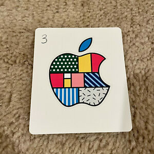 Apple Logo Sticker New and Genuine with Various Pattern Options