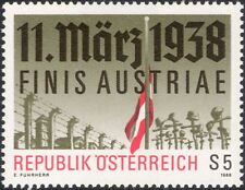 Austria 1988 l'annessione/Filo Spinato/Bandiera/Croci/seconda guerra mondiale/WAR/MILITARI 1 V (at1144a)
