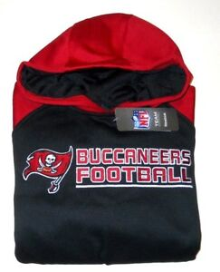 TAMPA BAY BUCCANEERS PULLOVER HOODED SWEATSHIRT YOUTH SZ M (10-12)-RED/BLACK-NWT