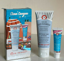NEW! FAB FIRST AID BEAUTY PURE SKIN FACE CLEANSER & COCONUT WATER CREAM DUO SET