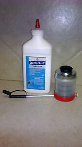 1 LB Delta Dust Pest INSECTICIDE & Bellow Puffer R Duster ~ Bees Silverfish etc.