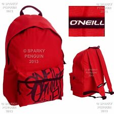 O'NEILL RED & BLACK BACKPACK MENS BOYS RUCKSACK SPORTS SCHOOL STUDENT BAG