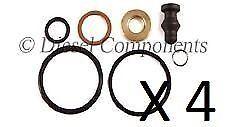 4 x Diesel Injector Seal Repair Kit (Audi Seat VW Skoda Ford) for Bosch PD
