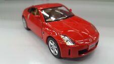 Nissan 350Z Rojo Kinsmart Coche Juguete Modelo 1/34 Escala Metal Abierto Doors