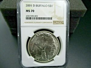 RARE FIND 2001 D BUFFALO  COMMEMORATIVE ONE DOLLAR COIN NGC MS 70