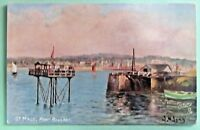 ST MALO PONT ROULANT  tuck's oilette picture postcards SIGN ppc Sr.2 No.7175