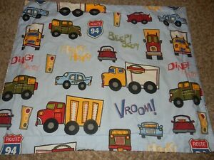 CIRCO Transportation Vroom Beep Honk Cars Trucks Pillow SHAM Pillow Case