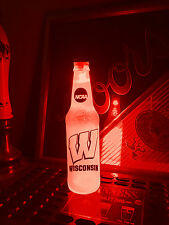 NCAA Wisconsin Badgers Football 12oz Beer Bottle Light LED Bar Man Cave
