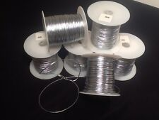 NEW -- ONE SPOOL Containing 100 Yards Silver Metallic Tinsel Thread