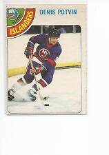 DENIS POTVIN 1978-79 OPC O-Pee-Chee card #245 New York Islanders EX