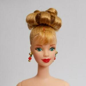 Barbie Collector Doll Blonde Updo Bright Green Eyes Mackie Face Earrings