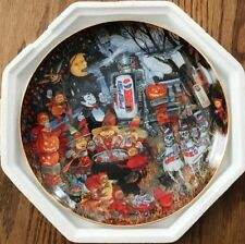 Franklin Mint - Bill Bell, Pepsi Cola Halloween Plate New Le 1995