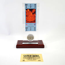 Highland Mint Super Bowl XXV Replica Ticket with Bronze Coin Giants