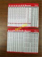 Starrett Decimal Metric Tap Drill Machinist Pocket Chart Cards (40)