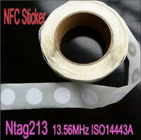 100pcs-NFC Ntag215 ISO14443A NFC Stickers Tag All NFC Phone Available NFC Adhesi