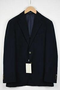RRP $499 SUITSUPPLY HAVANA PATCH Mens EU52 UK42R Cotton Wool Linen Blend Blazer