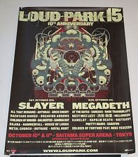 MEGADETH Japan PROMO ONLY festival tour POSTER Helloween SLAYER Dizzy Mizz Lizzy