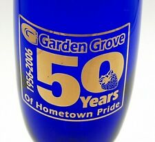Garden Grove 50 Years of Hometown Pride Blue Champagne Flute Glass 1956-2006