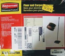 "Rubbermaid Commercial Floor & Carpet Sweeper Plastic Bristles 44"" Handle Black"