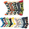 Mens Cotton Socks Animal Fruit Novelty Funny Casual Sock Gift Dress Printed Sock