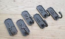 Set of 6 CAST IRON COAT HOOK ANTIQUE VINTAGE STYLE HANGER DOOR COAT RACK HOOK