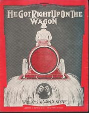 He Got Right Up On The Wagon And He Fell Right Off Again Lg Format Sheet Music