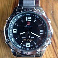 Reloj Deportivo Shark Divers, Analógico Y Digital Led