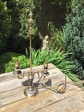 Antique Brass Candelabra Lamp Base