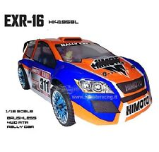 AUTO ELETTRICA RADIOCOMANDATA RALLY COMPLETA BRUSHLESS 4WD RADIO 2.4GHZ 1/16
