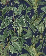 Erismann Paraíso tropical hojas Patrón de papel tapiz selva bosque con textura 6303-08 azul turquesa