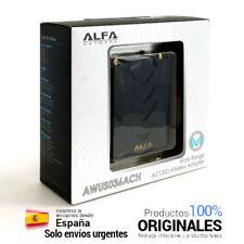 🔥 ALFA AWUS036ACH Antena WiFi USB AC1200 Largo Alcance conexion antena exterior