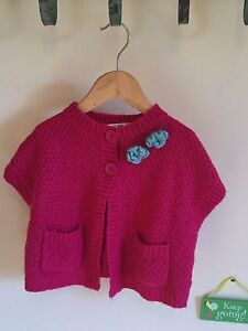 Beautiful Hot Pink Corsage Cardigan - Age 2 - John Lewis - Excellent Condition