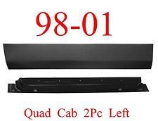 98 01 Dodge 2Pc Left Front Quad Cab Door Bottom & Inner Panel, Truck 4 Door Ram
