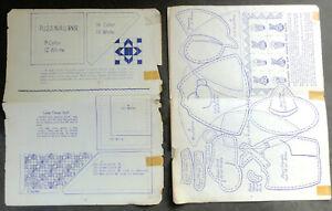 Vintage Quilting Patterns, Ferris Wheel/Sunbonnet Sue/Lucky Clover/Democrat Rose