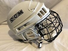 CCM Ice Hockey Helmet W/ Cage White SM-15