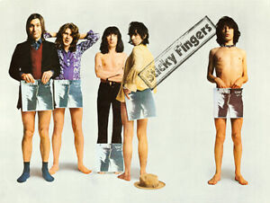 The Rolling Stones - Sticky Fingers Promotional Poster reprint (1971)
