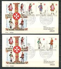 1969 - LOTTO/21472 - SMOM - ANTICHE UNIFORMI 2 BUSTE FDC