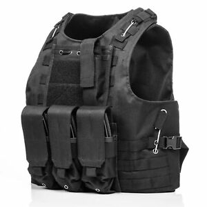 HUNTVP Tactical Vest Molle Army Military Airsoft Assault Police Plate Carrier