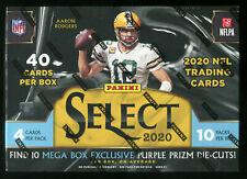 NEW 2020 Panini NFL Select Football (Cello Pack Hanger, Blaster, Mega Box) Cards