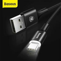 BASEUS Type C 3A LED Light USB Type C Cable USBC Fast Charging QC 4.0 Charger