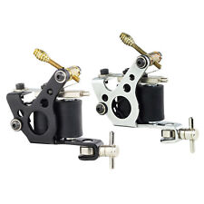 2pcs Classic Black Tattoo Machine Gun Set of 10-Wrap Coils for Liner / Shader