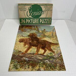 Red Pat Irish Setter Dog Puzzle 1930s Etonian Brand Vintage USA 4369