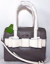 NWT Kate Spade Alice Court Collection Kaiya LG leather Satchel, Cliff Grey /Bone