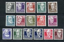 GERMANY DDR DEMOCRATIC REPUBLIC 1953 SCOTT 122-136 PERSONALITIES 2 PERFECT MNH