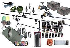 Carp Fishing Kit Set Rods Reels  Bait Tools Mat Tackle Pack Grinder Rigs Feeders
